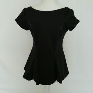Analili Tops - Analili ] black peplum blouse