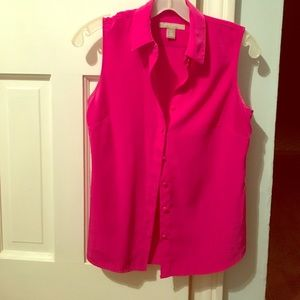 Banana Republic pink button down blouse.