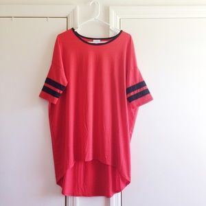 LuLaRoe Tops - LuLaRoe Irma Red Shirt