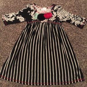 pink vanilla Other - Little girls black white striped dress
