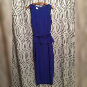 Blue Dress By Ysilks Size 10 Blue Cloth Belt