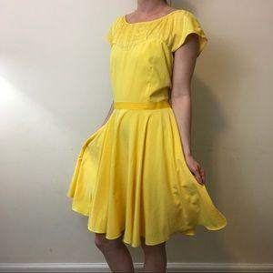 Z Spoke by Zac Posen Dresses & Skirts - Z Spoke Zac Posen Yellow Silk Retro Party Dress