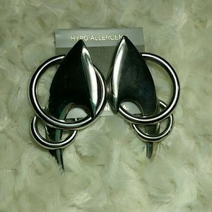 Jewelry - CCO Vintage 80's Huge Dramatic Statement Earrings