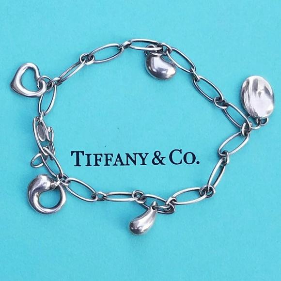 9a0d0b789 Tiffany & Co. Jewelry | Vtg Tiffany Co Elsa Peretti 5 Charm Bracelet ...
