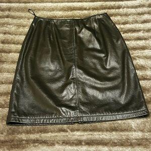 Wilsons Leather Dresses & Skirts - Wilsons Maxima Black Leather Skirt