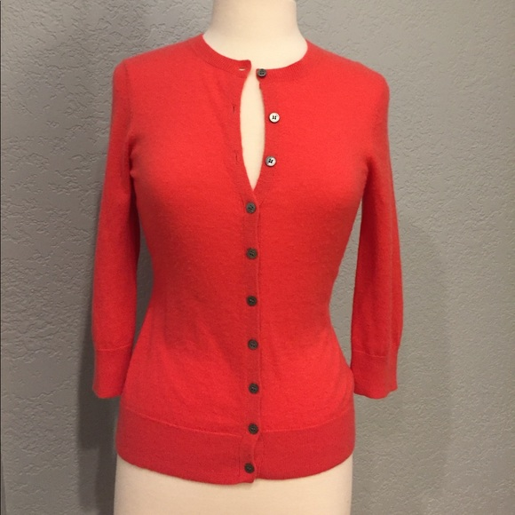 84% off Garnet Hill Sweaters - Garnet Hill 100% cashmere cardigan ...