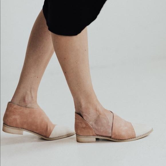 Shoes - Freya two tone flats - Cream