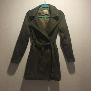 Old Navy Jackets & Blazers - Old Navy olive green trenchcoat