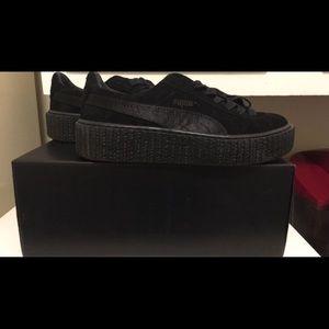 Rihanna Shoes - Original all black Rihanna suede creepers