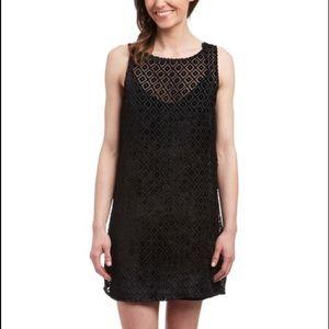Ella Moss Dresses & Skirts - Ella Moss Black Tunic Marlowe Velvet Dress Sheer