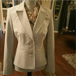 Light gray Express Editor Suit with blazer pants