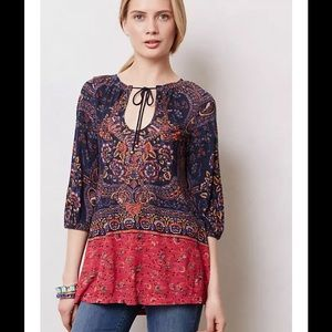 Anthropologie Tops - ANTHROPOLOGIE  Blushed Paisley Peasant Tunic