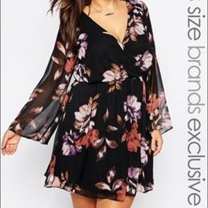 ASOS Black Floral Dress
