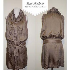 Ikks Dresses & Skirts - IKKS DRAWSTRING SHAWL COLLAR Dress