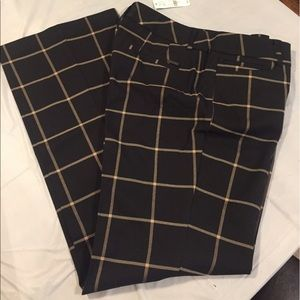 NWT NY&Co 7th Ave Plaid Trouser