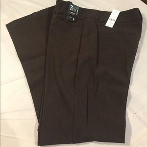 NWT NY&Co Brown 7th Ave Trousers