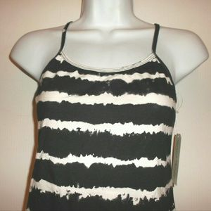 French Laundry Stretch  stripes Camisole Top NWT