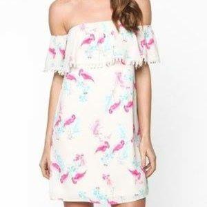 Dresses & Skirts - Arrived! Flamingo dress S/M