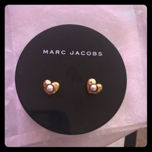 Marc by Marc Jacobs Jewelry - Marc Jacobs Gold Heart Studs
