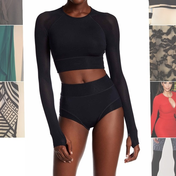 fea2575e102c83 Brand New IVY PARK long mesh sleeved crop top