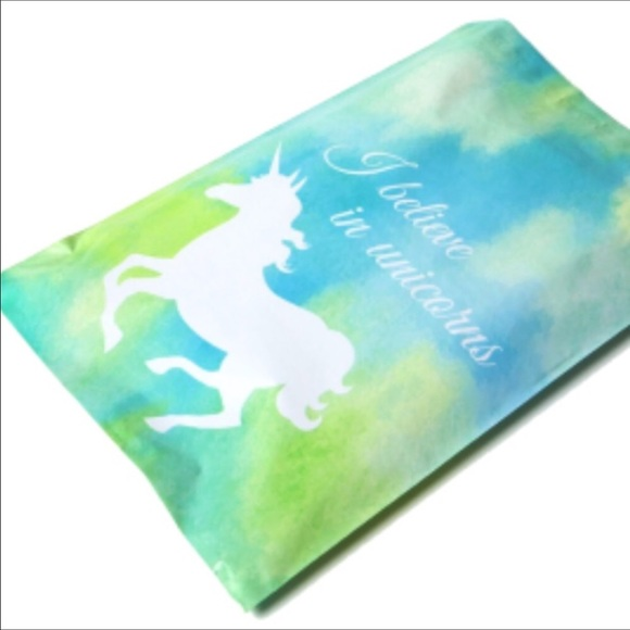 Handbags - 100 Pack 💙🦄Blue Unicorn Poly Mailer 10x13