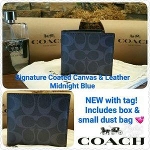 Coach Other - *SALE* NEW Coach Signature Wallet (Blue)