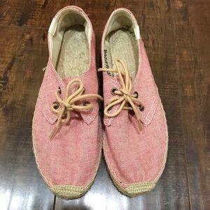Soludos Shoes - Soludos Linen Derby Espadrilles Coral Size 38(7.5)
