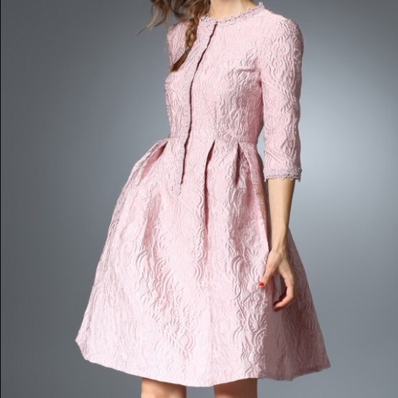 39cb80fa8517 Coeur de Vague Dresses | Blush Pink Fit Flare Dress | Poshmark