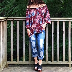 Tops - 🆕 bohemian chic off the shoulder top