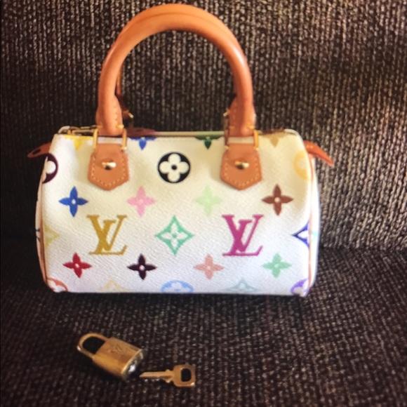 21e9cb2f3d3e Louis Vuitton Handbags - 💯%Authentic Mini speedy LV multicolor