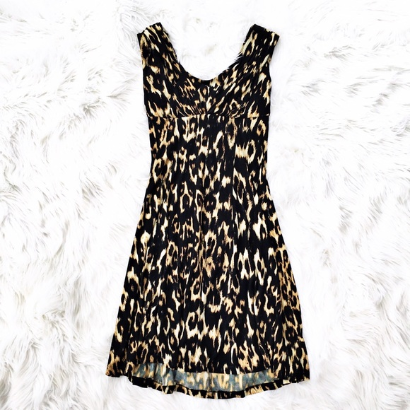 39b28e27b074 Calvin Klein Dresses   Skirts - Calvin Klein leopard print knit dress