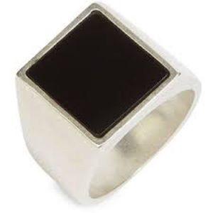 Maison Margiela Other - Maison Margiela Onyx silver plated rings