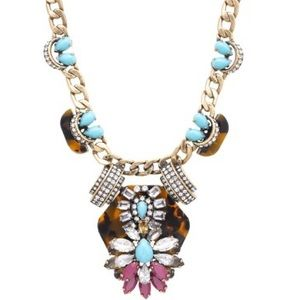J.Crew Tortoise and Turquoise Necklace