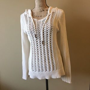 American Eagle Outfitters Sweaters - American eagle open knit hoodie sweater or beach