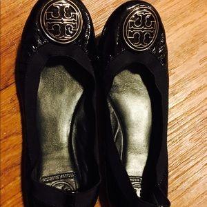 Tory burch Caroline patent leather ballet flats 9M