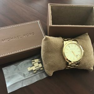 Michael Kors Slim Runway Gold Watch