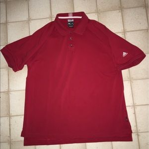 Adidas climalite stretch red polo size Xl