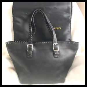 Fendi Handbags - Fendi Black Leather Tote Handbag Gorgeous