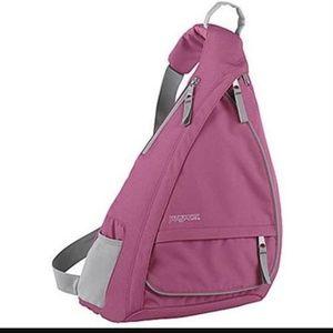 Jansport Handbags - JanSport pink boardwalk sling backpack