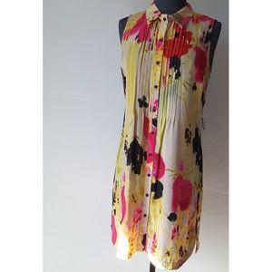 ANTHROPOLOGY Tabitha Aubrieta Silk Shirt  Dress