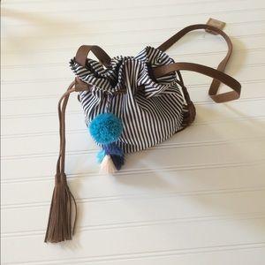 Red Camel Handbags - Navy stripe mini bag