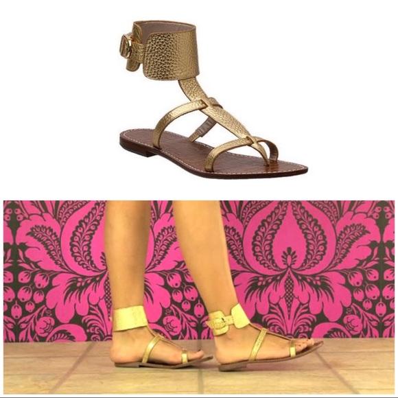 a27b554c51c12c Sam Edelman Gold Ginnie Gladiator Sandals sz 6.5