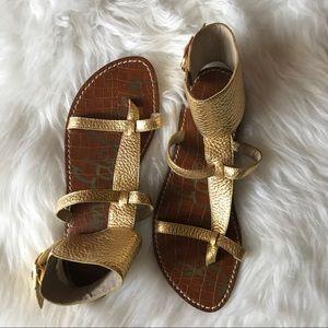 0f22b1656bc1df Sam Edelman Shoes - Sam Edelman Gold Ginnie Gladiator Sandals sz 6.5