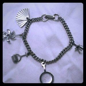 Jewelry - VINTAGE 60'S SILVER CHARM BRACELET