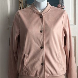 Jackets & Blazers - Suede bomber jacket