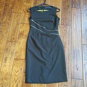 Andrew Marc zipper shift dress