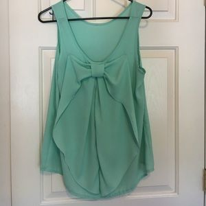 Mossimo Supply Co. Tops - Mint Green Bow Shirt