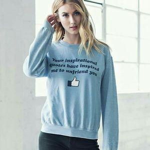 "Jac Vanek Sweaters - NWT Jac Vanek ""Unfriend"" Crewneck Sweater"