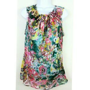 Simply Vera Wang multicolor sleeveless blouse M