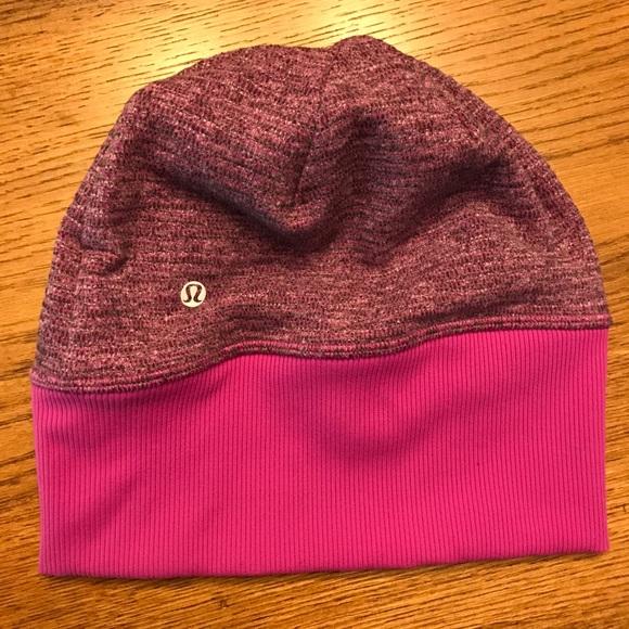 535f90fd7f5 lululemon athletica Accessories - Lululemon Purple Pink Hat Beanie w  Ponytail  hole